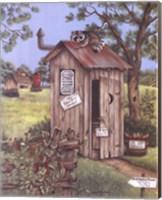 Outhouse - Raccoon Fine Art Print