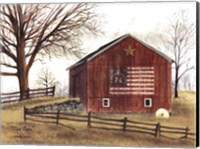 Flag Barn Fine Art Print