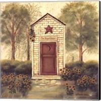 Folk Art Outhouse III Fine Art Print