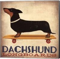 Dachsund Longboards Fine Art Print