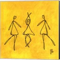 Joy - Yellow Dancers Fine Art Print