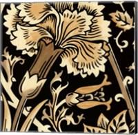 Neutral Floral Motif I Fine Art Print