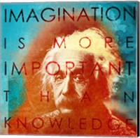 Einstein - Imagination Quote Fine Art Print