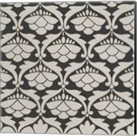 Black & Tan Tile III Fine Art Print