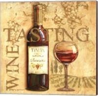 Wine Tasting Square Fine Art Print