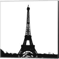 Black Eiffel Tower Fine Art Print