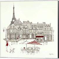 World Cafe II - Paris Red Fine Art Print