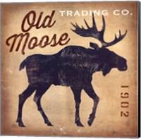 Old Moose Trading Co. Tan Fine Art Print