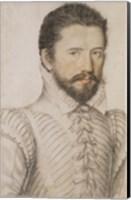 Portrait of a Bearded Man Wearing a Slashed Doublet Fine Art Print