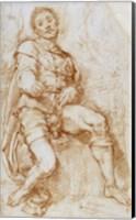 A Seated Man Fine Art Print