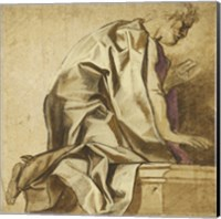 Man Kneeling Fine Art Print
