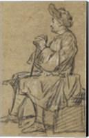 Study of a Seated Man Fine Art Print