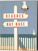 Beaches vs. Rat Race Fine Art Print