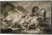 Death of Hippolytos Fine Art Print