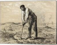Man with a Hoe Fine Art Print