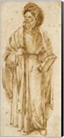 Standing Man Wearing A Turban Fine Art Print