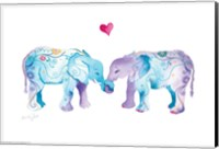 Elephants in Love Fine Art Print