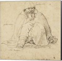 Seated Man Fine Art Print