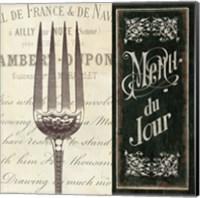 French Menu II Fine Art Print
