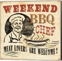 Weekend BBQ Chef Fine Art Print