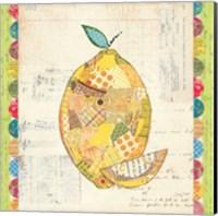 Fruit Collage II - Lemon Fine Art Print