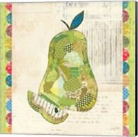 Fruit Collage III - Pear - Fine Art Print