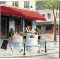 Relaxing at the Cafe I Fine Art Print