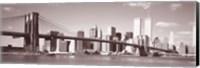 Brooklyn Bridge, Hudson River, NYC, New York City, New York State, USA Fine Art Print