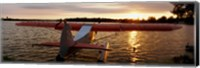 High angle view of a sea plane, Lake Spenard, Anchorage, Alaska Fine Art Print