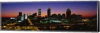 Atlanta skyline at night, GA Fine Art Print