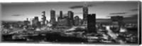 Atlanta skyline in black and white, Georgia, USA Fine Art Print