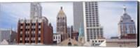 Low angle view of downtown skyline, Tulsa, Oklahoma Fine Art Print