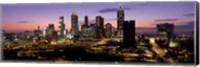 Skyline At Dusk, Cityscape, Skyline, City, Atlanta, Georgia, USA Fine Art Print