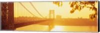 Bridge across the river, George Washington Bridge, New York City Fine Art Print