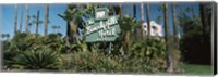 Signboard of a hotel, Beverly Hills Hotel, Beverly Hills, Los Angeles County, California, USA Fine Art Print