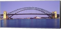 Bridge across a sea, Sydney Harbor Bridge, Sydney, New South Wales, Australia Fine Art Print