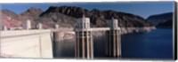 Dam on the river, Hoover Dam, Colorado River, Arizona, USA Fine Art Print