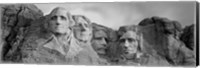 Mount Rushmore (Black And White) Fine Art Print