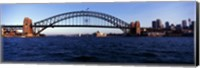 Bridge across the sea, Sydney Harbor Bridge, McMahons Point, Sydney Harbor, Sydney, New South Wales, Australia Fine Art Print