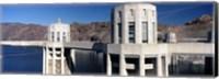 Dam on a river, Hoover Dam, Colorado River, Arizona-Nevada, USA Fine Art Print