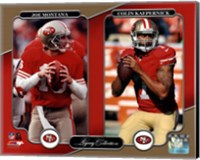 Joe Montana & Colin Kaepernick Legacy Collection Fine Art Print