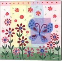 Butterfly & Flowers Fine Art Print
