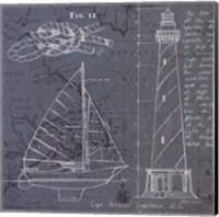 Coastal Blueprint III Fine Art Print
