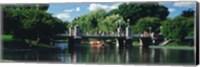 Swan boat in the pond at Boston Public Garden, Boston, Massachusetts, USA Fine Art Print