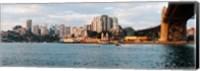 Skyscrapers at the waterfront, McMahons Point, Sydney Harbor Bridge, Sydney Harbor, Sydney, New South Wales, Australia 2012 Fine Art Print