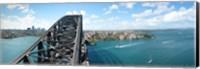 Sydney from top of observation pylon of Sydney Harbor Bridge, New South Wales, Australia Fine Art Print