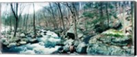 River flowing through a valley, Hudson Valley, New York State Fine Art Print