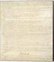 Constitution of the United States II Fine Art Print