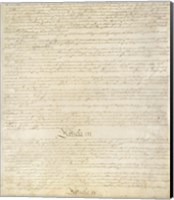 Constitution of the United States I III Fine Art Print