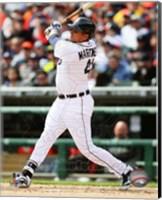Victor Martinez 2014 batting Fine Art Print